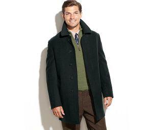 China Factory Men′s Button-Closure Solid Overcoat pictures & photos