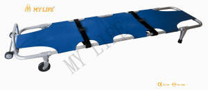 Ambulance Folding Stretcher with Wheel (TD010117)
