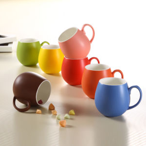 Colorful Glazing Design Porcelain Round Cup Ceramic Mugs pictures & photos
