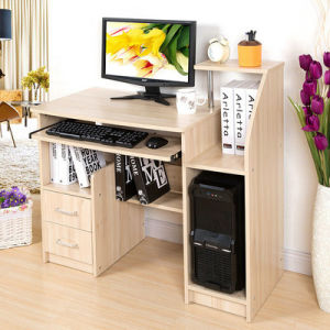 2016 Modern Cheap Wooden Home Furniture Table Computer Desk (FS-CD028) pictures & photos