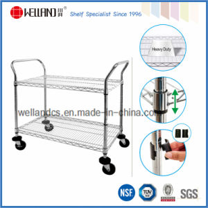 NSF Chrome Industrial Metal Wire Trolley (TR754590A3W2) pictures & photos