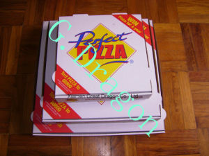 Locking Corners Pizza Box for Stability and Durability (CCB0235) pictures & photos