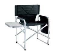 Aluminum Director Chair with Small Table and Pocket Camping Chair / Fishing Chair 600d Polyester