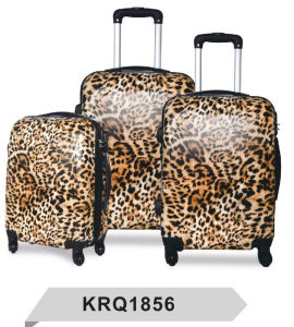 ABS PC Leopard Printed Hard Shell Luggage pictures & photos