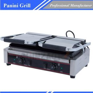 Commercial Sandwich Press Bread Panini Grill Double Plate Ce Approved pictures & photos