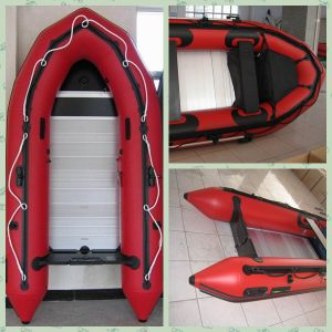 Sobering Red 0.9mm Inflatable PVC Fishing Boat pictures & photos