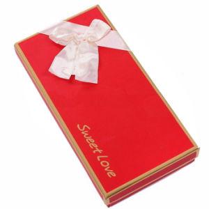 Fasional Red Rigid Cardboard Handmade Gift Box with Ribbon