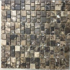 Black Stone Marble Mosaic for House Building Material (FYSC055-4)