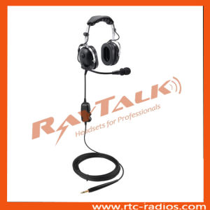 Two Way Radio Aviation Headset/Ground Support Noise Cancelling Headset pictures & photos