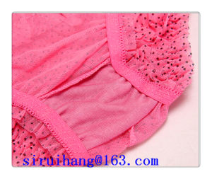Mesh Dots Printing Lady Panty Underwear
