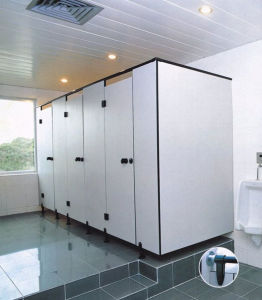 White Color Heat Resistance Toilet Cubicle with Nylon Accessories pictures & photos