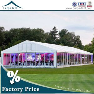 European Style 25X35m White PVC Fabric Glass Wall Party Ceremony Tent for 500 People pictures & photos