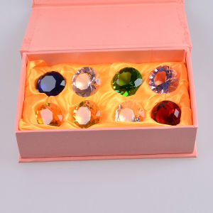 30mm Multi Color Crystal Glass Diamond of Paperweight, 8PCS/Set pictures & photos