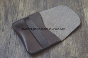 Horween Leather Flap Wallet Compact Fashion Travel Bag pictures & photos