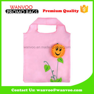 Small Size Qute Pink Polyester Foldable Bag for Shopping pictures & photos