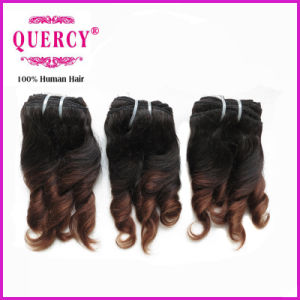 Quercy Hair Omber Color Wholesale Virgin Peruvian Hair Extension Virgin Remy Fumi Curl Hair Weaves Top Grade Quality Human Hair pictures & photos