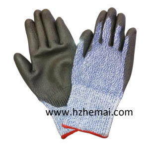 Cut Resistant Gloves Half Dipped Nitrile Work Glove pictures & photos