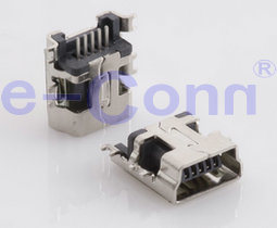 Mini USB B Type Female SMT Recceptacle Conn pictures & photos