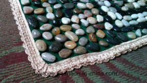 Hot Sale Mixed Colore River Round Stone Flooring Mat Bathroom Decoration pictures & photos