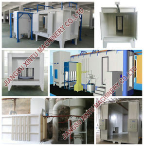Electrostatic Stainless Powder Spray Booth for Powder Coating Line pictures & photos