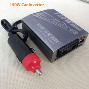 DC12V/24V Car Slim Design Power Inverters 150watt AC220V pictures & photos