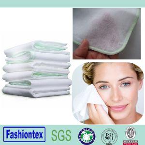Muslin Fabric Organic Cotton Bamboo Muslin Face Towel pictures & photos
