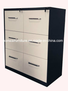 Office Steel Cabinet with 6 Drawers and Aluminum Handle