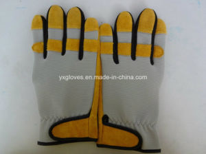 Leather Glove-Safety Glove-Glove-Yellow Glove-Industrial Glove pictures & photos