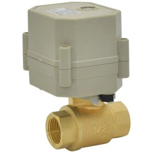 Plant Direct Sale RoHS Electric Control Water Valve 2 Way Motorized Brass Ball Valve (T15-B2-C) pictures & photos