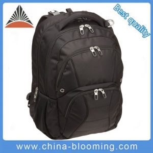 Black Zipper Multi-Functional 15.6 School Bag Laptop Backpack pictures & photos