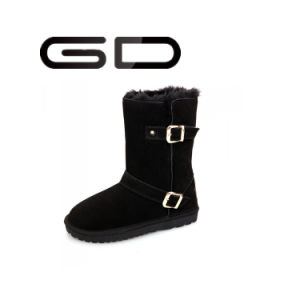 Chengdu Fashion Woman Winter Leather Shoes Snow Boots pictures & photos