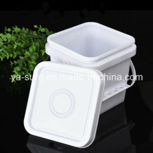 Food Grade 2L Square Plastic Packaging Bucket with Handle pictures & photos