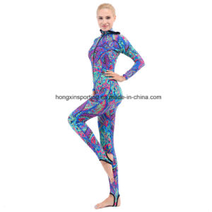Women`S Long Lycra Rash Guard for Swimwear, Sportswear and Surfing Suit pictures & photos