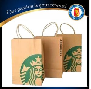 Custom Brown Kraft Paper Bag for Packaging pictures & photos