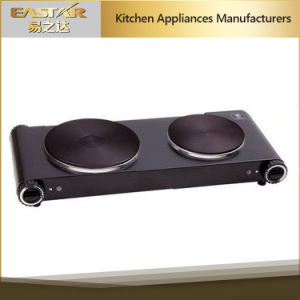 Ce GS A13 Standard High Quality Stainless Steel Double Burner Electric Cooktop pictures & photos