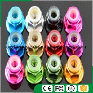 Aluminum Flange Nut, Aluminum Anodized Flange Nut, Aluminum Nylock Flange Nut, M2-M5