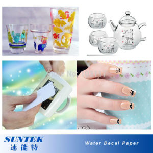 Nail Stickers Water Slide Decals for Ceramic Glass Plastic Mug pictures & photos