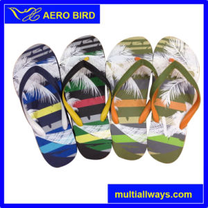 Fashion Men PE Flip Flops with Fashion Printing pictures & photos