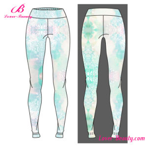 Luscious Curvy Cute Printed Sportwear Yoga Leggings pictures & photos