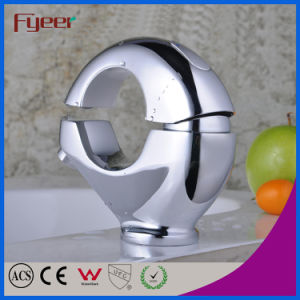 Fyeer Creative O-Shape Chrome Plated Brass Wash Basin Faucet Hot&Cold Water Mixer Tap Wasserhahn pictures & photos
