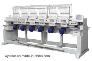 Wonyo 6 Heads High Speed Cap Embroidery Machine, for Flat T-Shirt Embroidery (WY906C/WY1206C) pictures & photos