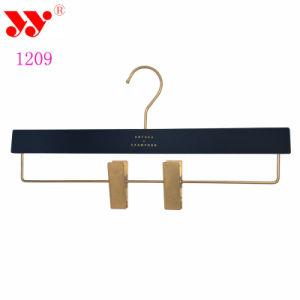 Adjustable Custom Black Plastic Trouser Metal Clip Hanger pictures & photos