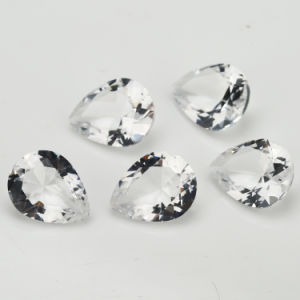 White Pear Shape White Glass Gems pictures & photos