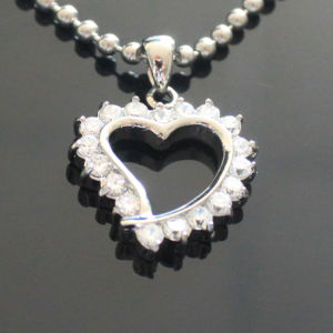 Stainless Steel Jewelry Wholesale Zircon Crystal Heart Pendant Jewelry pictures & photos