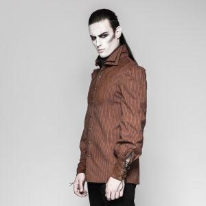 Y-755 Punk Rave Classic Italian Corduroy Men Brown Shirt pictures & photos