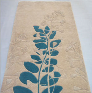 Acrylic Rug (carved carpet) -Leaves pictures & photos