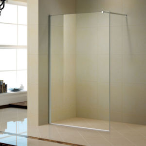 Walk in Shower Screen with Stainless Steel Bar (K-W05) pictures & photos