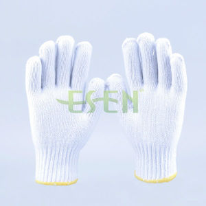 900g Cheapest Nature White Cotton Knitted Gloves for India Market, UAE Market pictures & photos