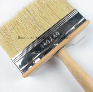 White Bristle Ceiling Block Paint Brush with Black Plastic Handle pictures & photos