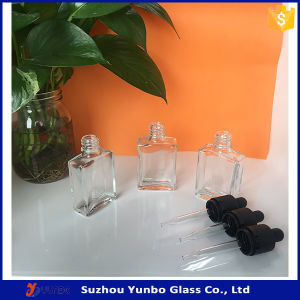 15 Ml 1 Oz Clear Square Eliquid Glass Bottles with Childproof Glass Dropper pictures & photos